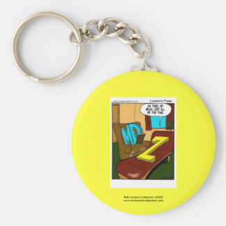Funny Psychiatry Cartoon On Quality Key Chain