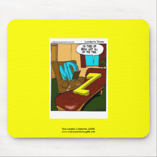 Funny Psychiatry Cartoon On Quality Poster Mouse Pad
