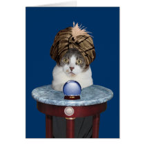 Funny Psychic Kitty Thinking About You