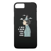 Funny Psychology Humor Need Break Need Vacation iPhone 8/7 Case