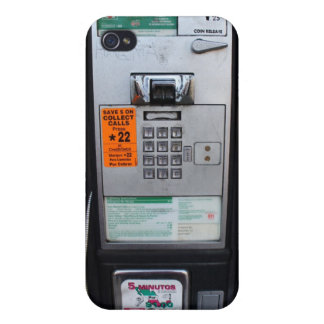 Funny Public Pay Phone Booth Case For iPhone 4