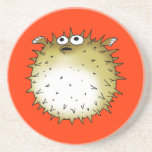 funny puffer fish coasters