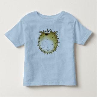 funny puffer fish toddler t-shirt
