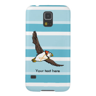 Funny Puffin With A Winter Hat On Galaxy S5 Cover