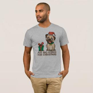 Funny Pug and Kisses Christmas   Shirt