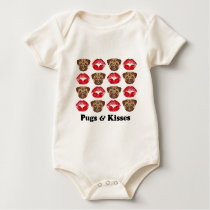 Funny Pug Baby Bodysuit