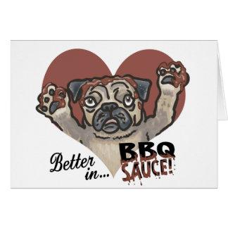 Funny Pug BBQ Greeting Card