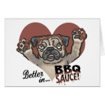 Funny Pug BBQ Cards