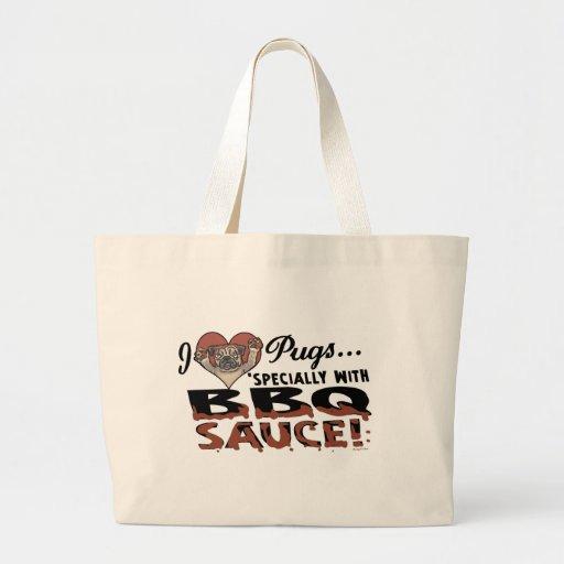 Funny Pug BBQ Jumbo Tote Bag