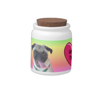Funny Pug Cookie Jar Candy Dishes