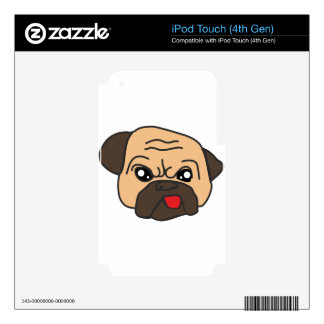 Funny Pug Decal For iPod Touch 4G