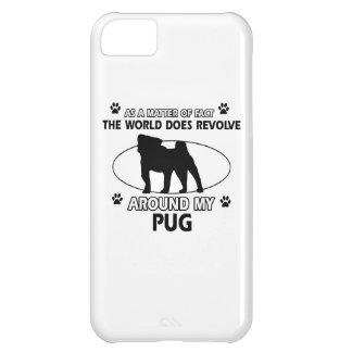 Funny Pug designs Cover For iPhone 5C