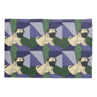 Funny Pug Dog Abstract Art Pillowcase