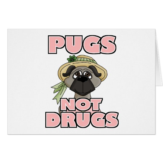 Funny Pug Dog Breed Gift Card