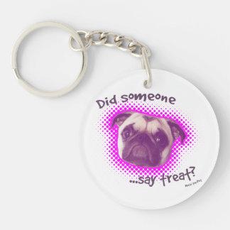Funny Pug Dog Key Chain