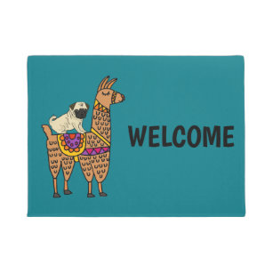 Llama Doormats Amp Welcome Mats Zazzle