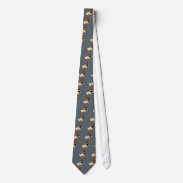 Halloween Themed Funny Pug Dog Witch or Wizard Halloween Artwork Neck Tie