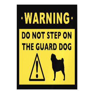 Funny Pug Guard Dog Warning Magnetic Card
