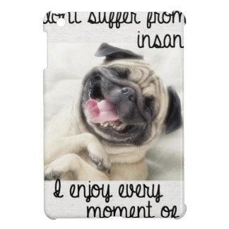 funny pug insanity iPad mini cover