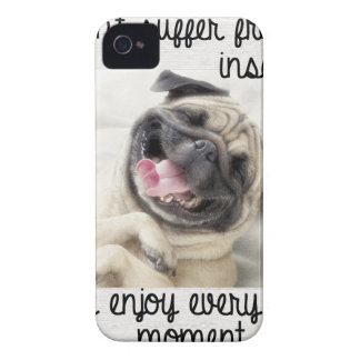 funny pug insanity iPhone 4 cases