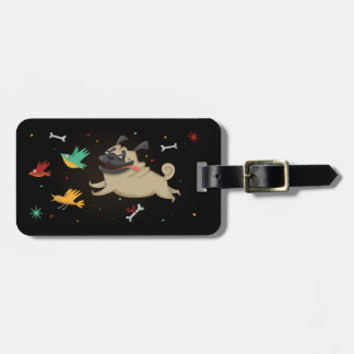 Funny Pug Luggage Tag