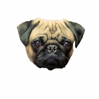 Funny Pug Photo Sculpture Keychain