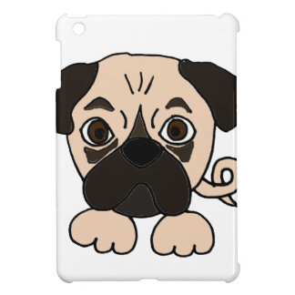 Funny Pug Puppy Dog Cartoon Cover For The iPad Mini