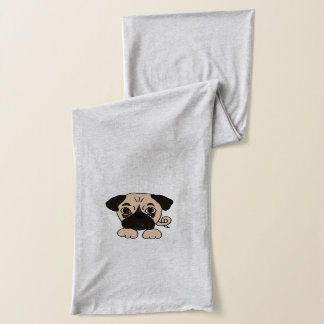 Funny Pug Puppy Dog Scarf