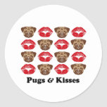 Funny Pug Round Stickers