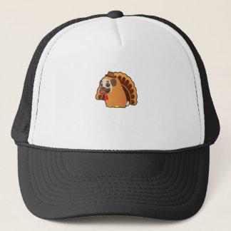 Funny Pug Turkey Funny Thanksgiving Dog Trucker Hat