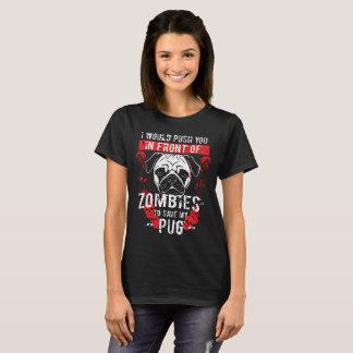 Funny Pug Zombie Design T-Shirt