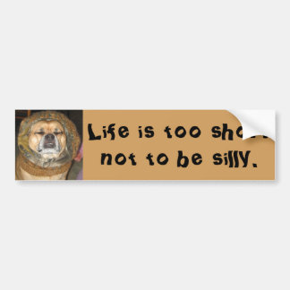 Funny Puggle Bumper Sticker