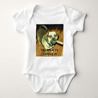 Funny Puggle Dog Baby Bodysuit