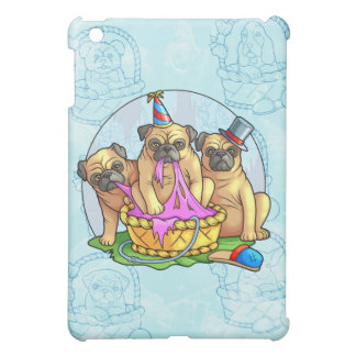 funny pugs iPad mini cases