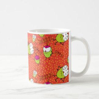 Funny Pulga  cartoon faces pattern Coffee Mug
