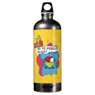Funny Pulga the flea cartoon character Aluminum Water Bottle