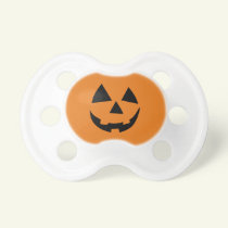 Funny Pumpkin Baby First Halloween Pacifiers
