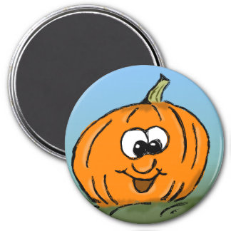 Funny Pumpkin Face Magnet