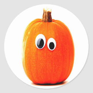 funny pumpkin face stickers