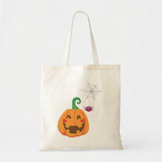 Funny Pumpkin Faces Tote Bag
