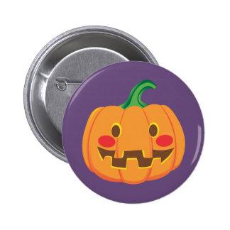 Funny Pumpkin Faces Pinback Button