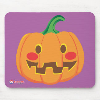 Funny Pumpkin Faces Mouse Pad