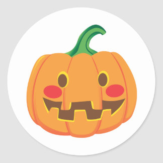 Funny Pumpkin Faces Stickers