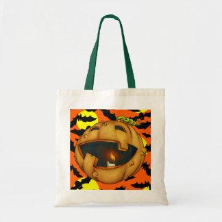 Funny Pumpkin Jackolantern - SRF Canvas Bags