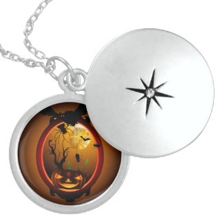 Funny pumpkin necklace