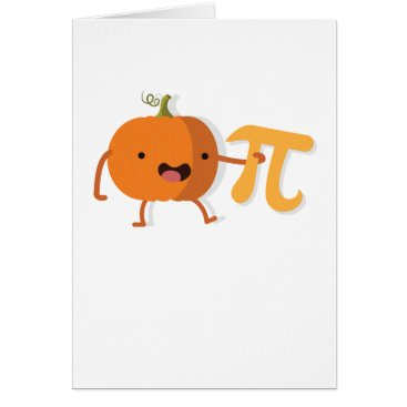 Halloween Themed Funny Pumpkin Pi Halloween Thanksgiving Gift Card
