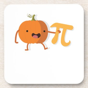Halloween Themed Funny Pumpkin Pi Halloween Thanksgiving Gift Coaster