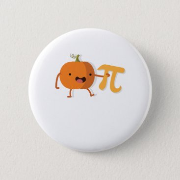 Halloween Themed Funny Pumpkin Pi Halloween Thanksgiving Gift Pinback Button