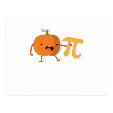 Halloween Themed Funny Pumpkin Pi Halloween Thanksgiving Gift Postcard