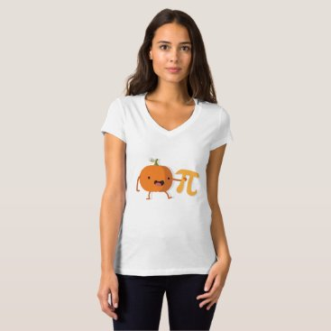 Halloween Themed Funny Pumpkin Pi Halloween Thanksgiving Gift T-Shirt